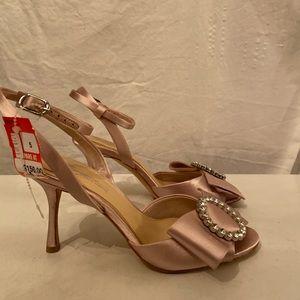 Imagine blush satin formal shoes 5